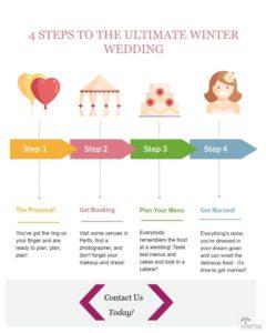 a winter wedding in Perth