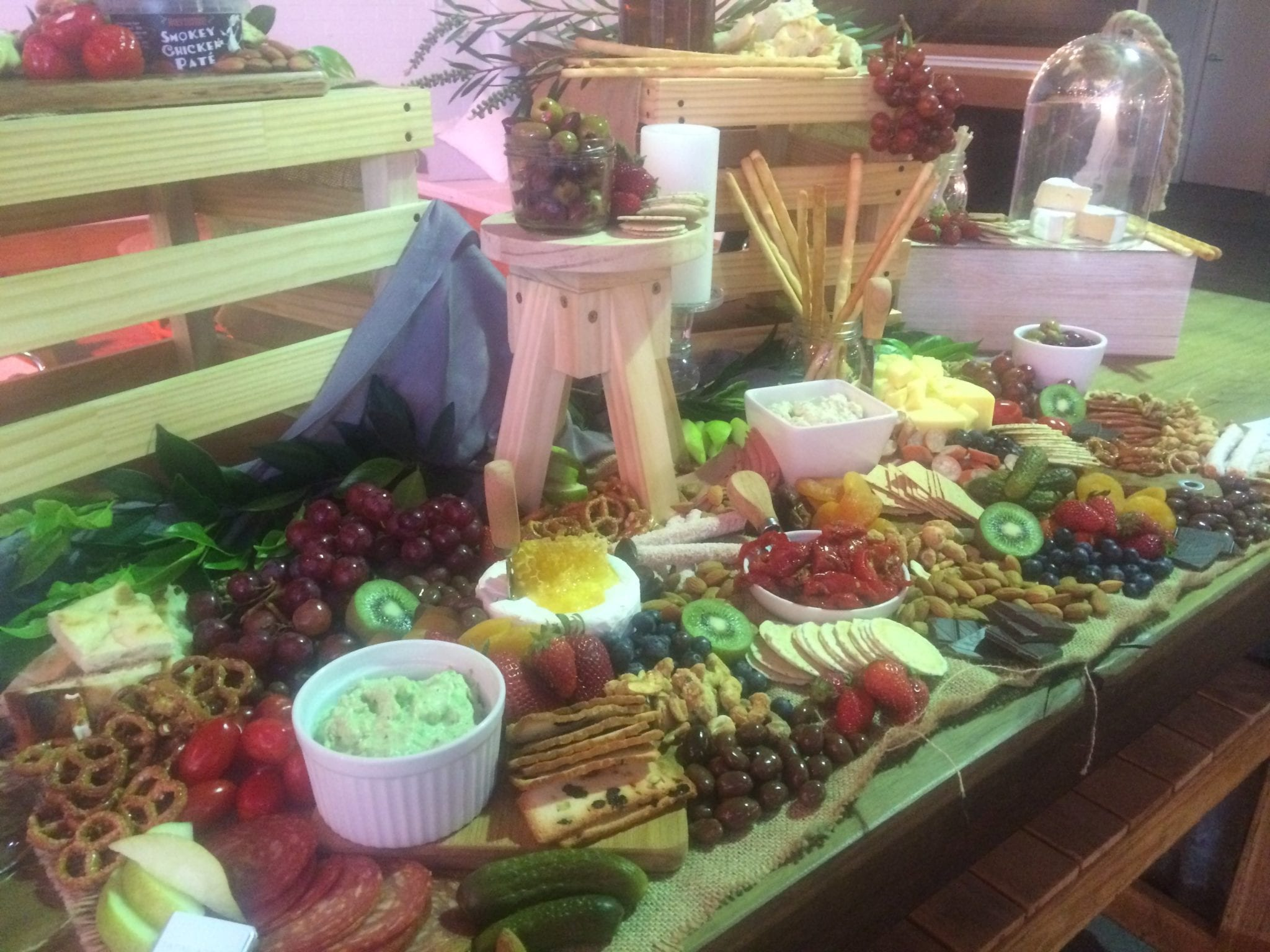 antipasto and fruit platter for event catering