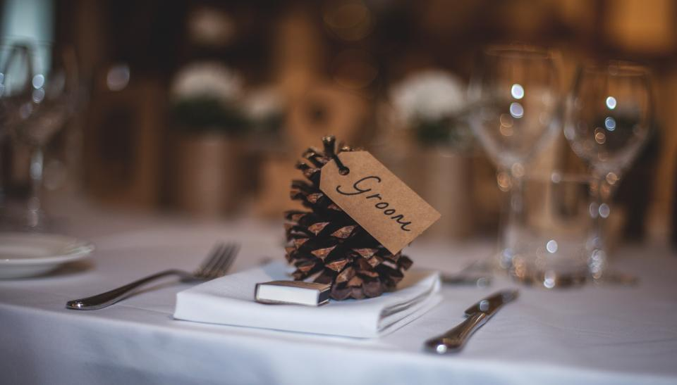 festive wedding decor