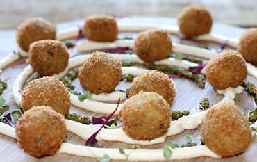 Catering with arancini balls