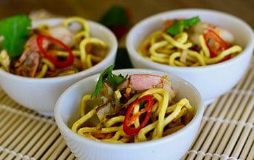 Spicy Hokkien Noodle Appetizer