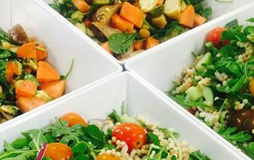 Variety of fresh vegetarian salads