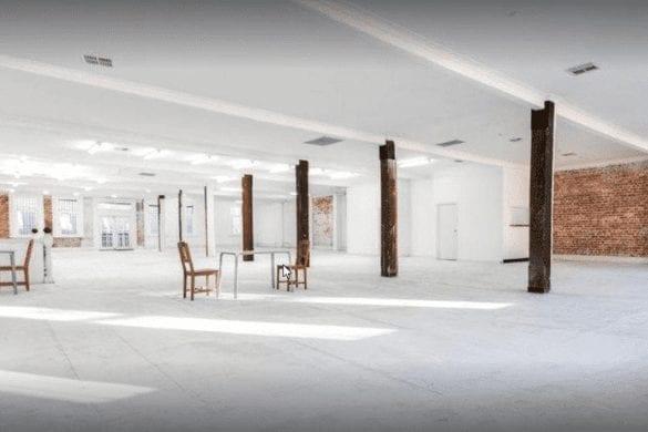 white rustic venue